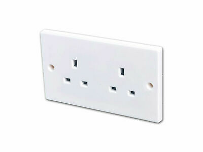 2 Gang Unswitched Electric Socket (13 Amp)
