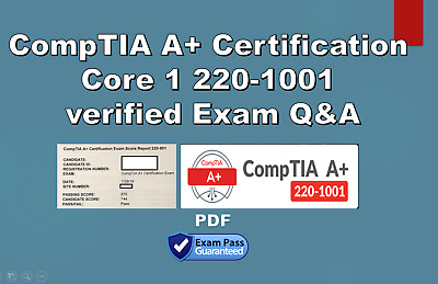 CompTIA A+ Certification Core 1 220-1001 verfied Exam Q&A October updated
