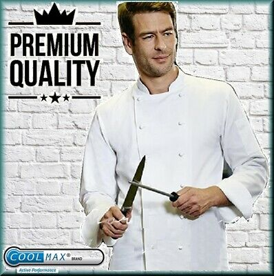 Coolmax Simon Jersey Chef Unisex Jacket Chefs Whites Long Sleeve Cj1