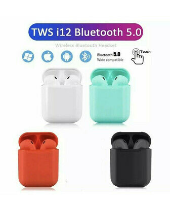 i12 TWS Bluetooth 5.0 Earphone Wireless Headphone Earbuds For iPhone Android