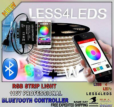 1500W Professional Bluetooth 110V Led Strip Light RGB +W Controller up to 330 ft