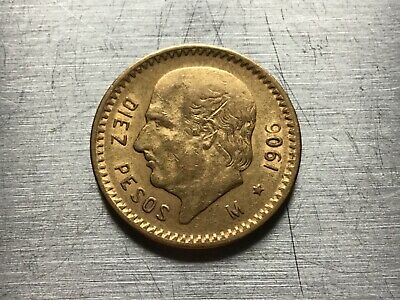 1906 Mexico Gold 10 Pesos (.2411oz) - Average circulated-special price lot 5