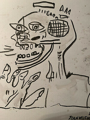 Jean Michel Basquiat Original Watercolour Painting Signed