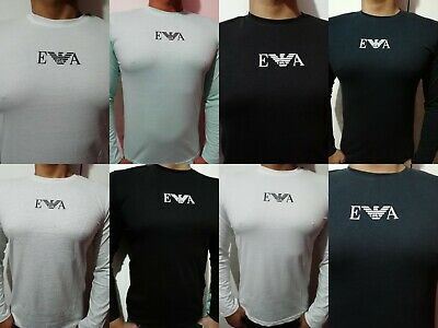 Emporio Armani Man T-shirt Short & Long Sleeve 5 Colors free & fast UK Delivery