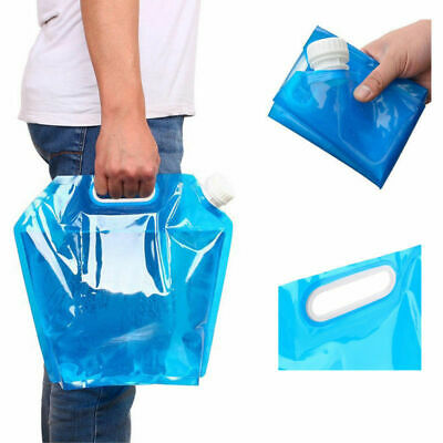Portable Folding Clear Water Bag Supply 5L Survival Kit Outdoor Hiking Camping