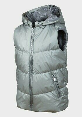 Minoti Girls Padded Gilet With Detachable Hood