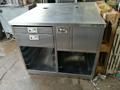 No358 Stainless Steel Cupboard With Drawers 1040Mm X 875Mm X 900Mm High