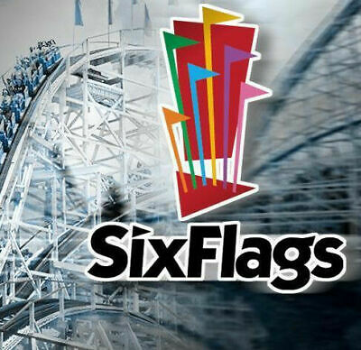 Six Flags Theme Park Single Day General Admission Tickets, Exp 12/31/19