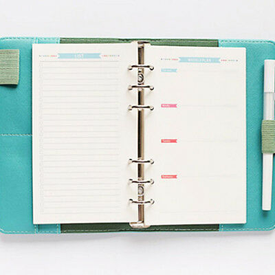 40 Pages A5/A6 Loose-leaf Planner Diary Insert Schedule NotebookS Creative New