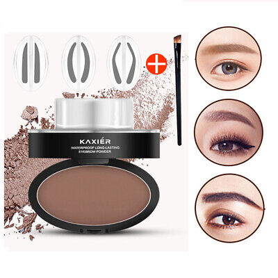 Eyebrow Stamp Powder Palette Natural Definition Makeup Cosmetic Gel Long Lasting
