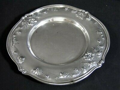 "Vintage Fancy Repousse Reed & Barton 300 Sterling Silver 7-1/8"" PLATE Dish"