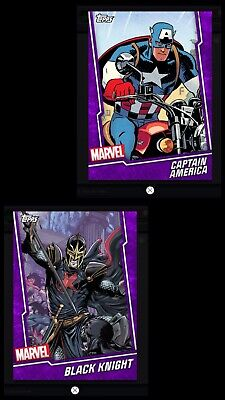 Topps MARVEL COLLECT DIGITAL Card FUSION PURPLE CAPTAIN AMERICA & BLACK KNIGHT