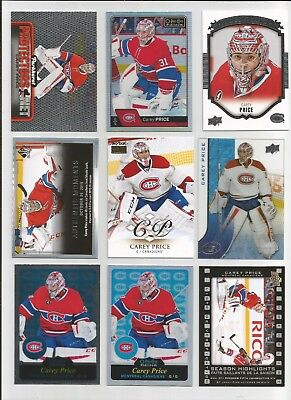 Carey Price Lot 9 Opc Platinum Retro Rainbow Ice Sp Authentic Parkhurst 2016