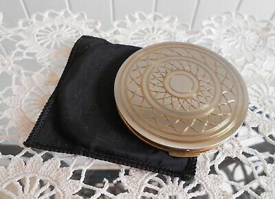 Vintage Stratton Silver & Gold Coloured Ladies Powder Compact Engraved Design
