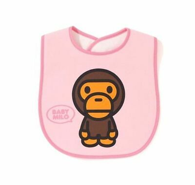 New A BATHING APE BABY MILO BIB Pink for Baby Auth from BAPE Japan