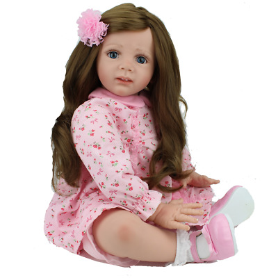 Toddler Girl Reborn Baby Doll Realistic Silicone Vinyl Newborn Baby Kids Gifts