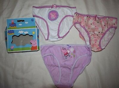 Peppa Pig 3 Pack Briefs Girls 6-8 years