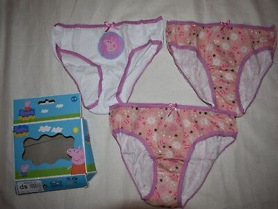 Peppa Pig 3 Pack Briefs Girls 6-8 years v2