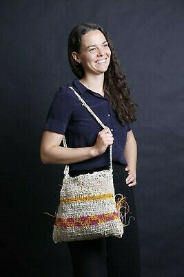 Traditional Hand Crafted Papua New Guinea Bilum (woven string bag).