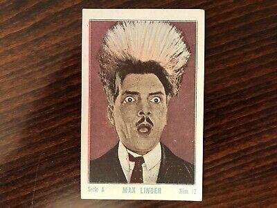 MAX LINDER Rare Trading Card Silent Film Actor Tinted 1920