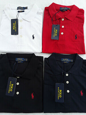 New Ralph Lauren Polo Shirts 100% Cotton Short Sleeve Embroidery Logo With Tags