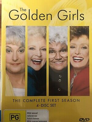 THE GOLDEN GIRLS - Season 1 4 x DVD Set AS NEW! Complete First Series One