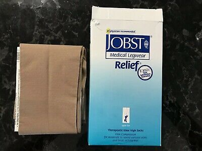 Jobst Relief Beige 20-30 mmHg Medical Compression Knee stockings Size L 114627