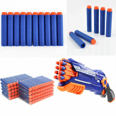 300pcs Bullet Darts For NERF Kids Toy Gun N-Strike Round Head Blasters #S Blue