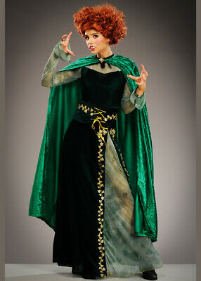 Womens Halloween Hocus Pocus Style Witch Adult Costume & Cape WIG NOT INCLUDED
