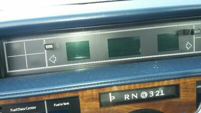 Speedometer Cluster Digital Without Air Bags Fits 89 DEVILLE 1294042