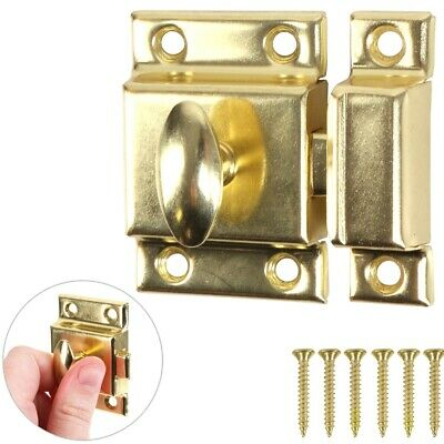 SPRUNG BRASS TURN LATCH 50mm Door Lock Thumb Thumbturn Cabinet Cupboard Wardrobe