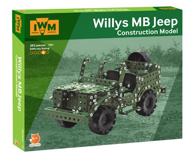 Imperial War Museums Willys MB Jeep Construction Set 377 Pièce Acier Model Kit
