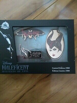 NEW Maleficent 2 Mistress of Evil Pin Set Limited Edition Pins Disney Store