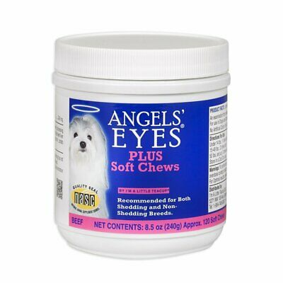 Angels� Eyes Soft Chew Beef 120 Count Natural Tear Stain Remover for Dogs -2Pack