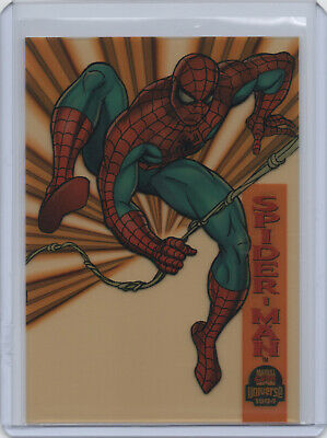 1994 Marvel Universe Series 5 SUSPENDED ANIMATION Chase Card #6 SPIDER-MAN Fleer