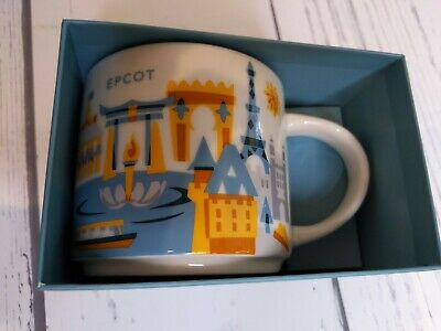 Starbucks Disney Parks Epcot World Showcase You Are Here Coffee Mug New In Box