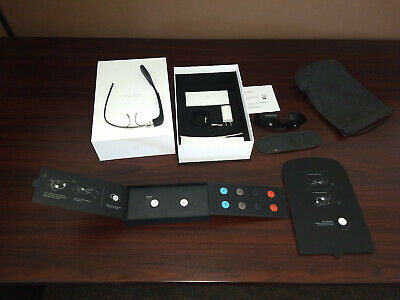 Google Glass Explorer Edition Model Xe-C Charcoal + Shades (Never Used, In Box)