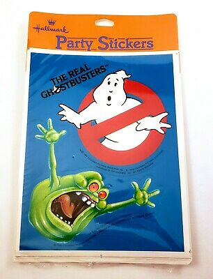 Vintage 1984 The Real Ghostbusters Party Stickers Hallmark (NOS) 4 in a Pack