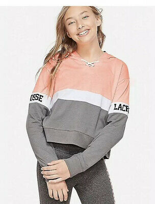 Nwt Justice Girls Lacrosse  Sports Colorblock Hoodie Size 18/20🥍🥍🥍