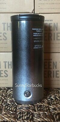 Starbucks Holiday 2019 Grey / Silver Glitter Ombre Stainless Steel Tumbler 12 oz