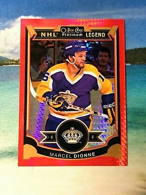 2015 16 Opc Platinum Red Prism Rainbow #68/75 Marcel Dionne #159 Ud Nhl Legend