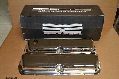 1958-1986 Small Block Chevy SBC V8 Flame Design Spectre 52181 Valve Covers