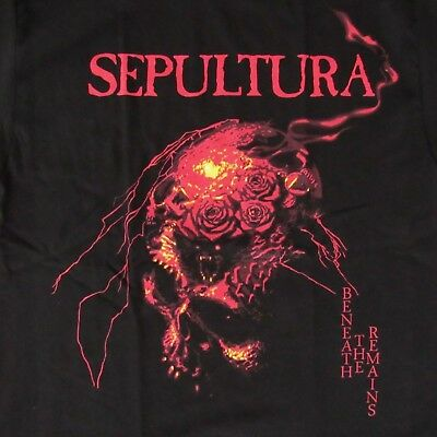 Free Same Day Shipping New Classic Sepultura Beneath The Remains Shirt Xl