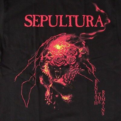 Free Same Day Shipping New Classic Sepultura Beneath The Remains Shirt Large