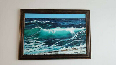 Rare Authentic Painting Acrylic on Canvas 24x36 Framed Never Meant to be Sold!
