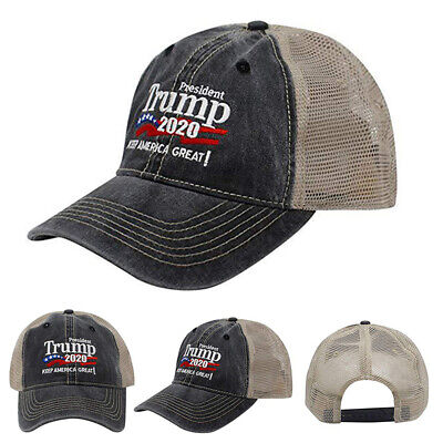 Donald Trump 2020 Cap USA Flag Camouflage Baseball Cap Hat Make AMERICAN Great
