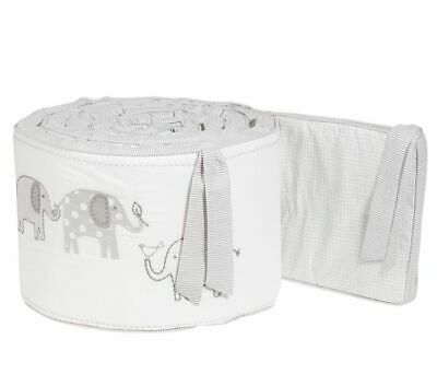 Pottery Barn Kids Reversible Taylor Elephant Crib Bumper