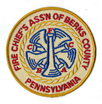 Fire Chief's Assn. of Berks County FCABC PA Pennsylvania patch - NEW! Clothback