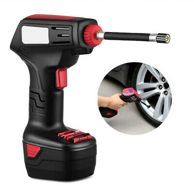 Air Compressor Cordless Electric Inflator Hand Held Pump Portable W/ Digital LCD