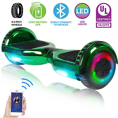 "6.5"" Bluetooth Hoverboard 2 Wheel Electric Self Balance Scooter With Bag UL2272"